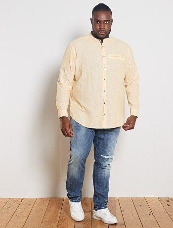 Camisas Tallas Grandes Hombre Amarillo Kiabi