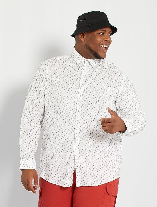 Camisa con estampado de cachemira                                         BLANCO
