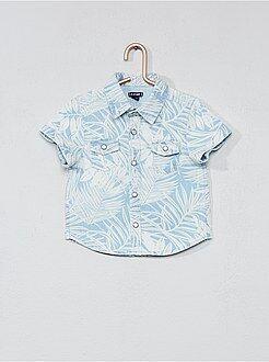 Niño 0-36 meses - Camisa con estampado de hojas - Kiabi