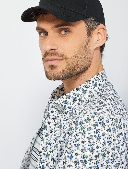 Camisa con estampado floral                                                                                                                                                                                                                             BLANCO