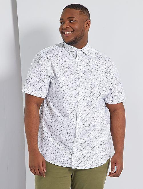 Camisa con micromotivo                                         BLANCO
