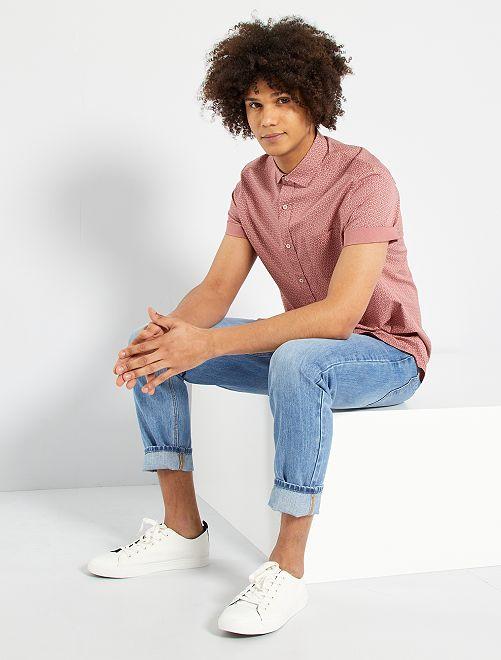 Camisa con micromotivo                                                                                                                                                                                                                 ROSA
