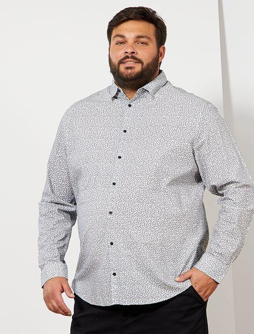 Camisa con motivo de cachemira                             BLANCO