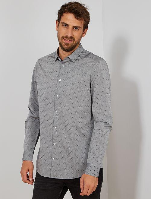 Camisa con motivo de espigas +1,90 m                             GRIS
