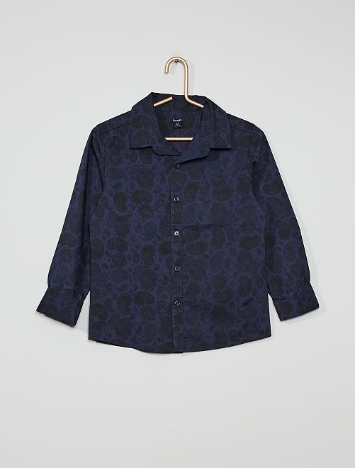 Camisa con motivo paisley                                         AZUL