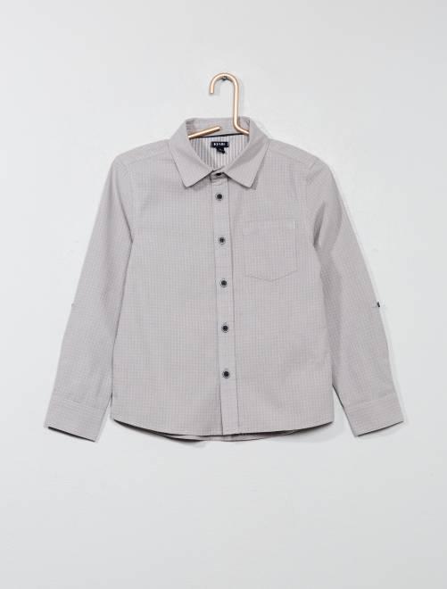 Camisa con motivos                             GRIS Chico