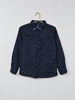 Camisas - Camisa con motivos y pajarita - Kiabi