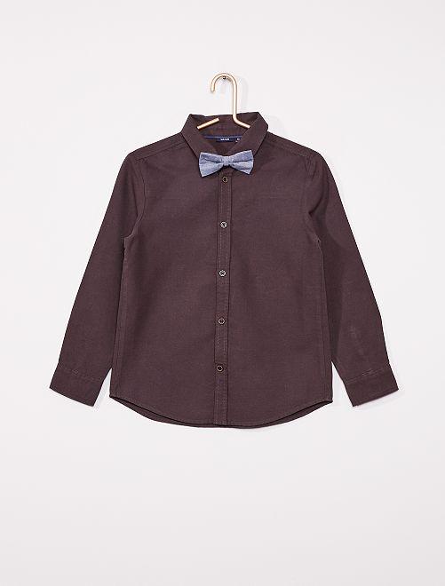 Camisa con pajarita                             gris oscuro