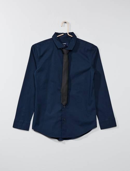 Camisa + corbata                                                                 AZUL Joven niño