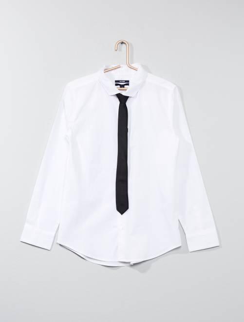 Camisa + corbata                                                                 BLANCO Joven niño