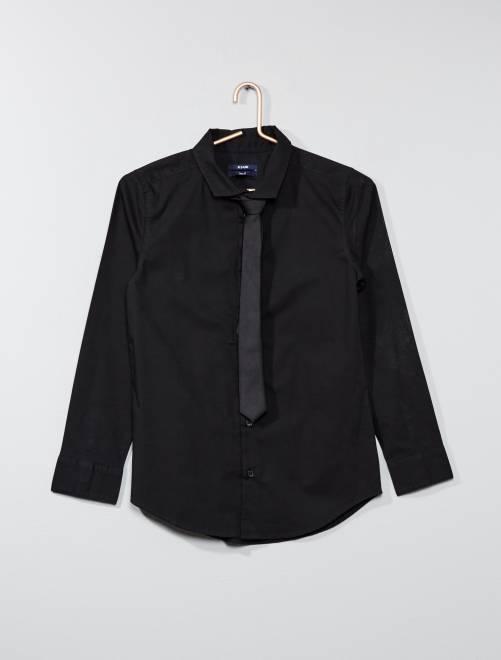 Camisa + corbata                                                     NEGRO Joven niño