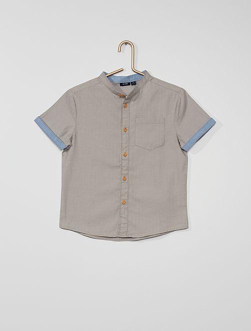 Camisa corta                                                                 GRIS