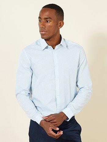 Hombre talla S-XXL - Camisa corte recto de popelina - Kiabi 856aa8b2e90