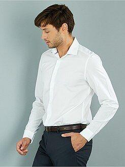 Camisa corte recto de popelina - Kiabi