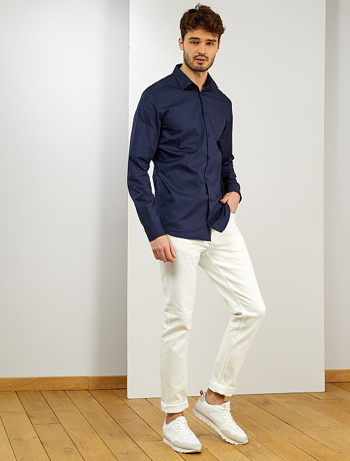 Camisa de algodón +1,90 m                             azul navy