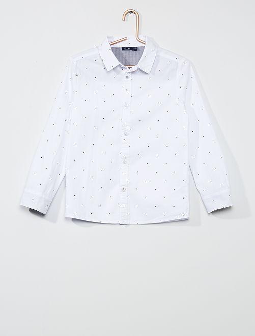 Camisa de algodón                             BLANCO