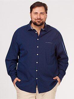 Camisa de algodón con motivo de jacquard