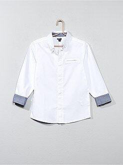 Niño 3-12 años Camisa de algodón con textura