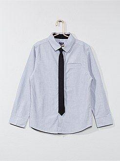 Camisas - Camisa de algodón + corbata - Kiabi