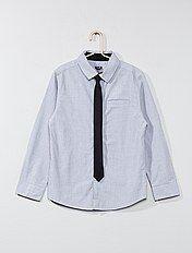 Camisa de algodón + corbata