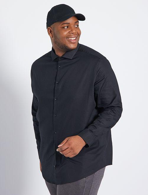 Camisa de algodón dobby                                         negro