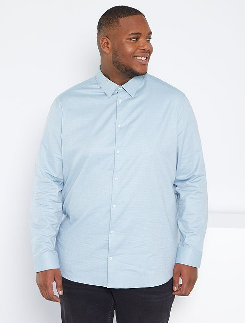 Camisa de algodón 'eco-concepción'                                         azul