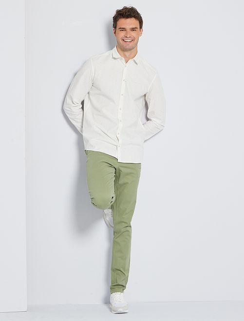 Camisa de algodón moteado +1,90 m                                         crudo