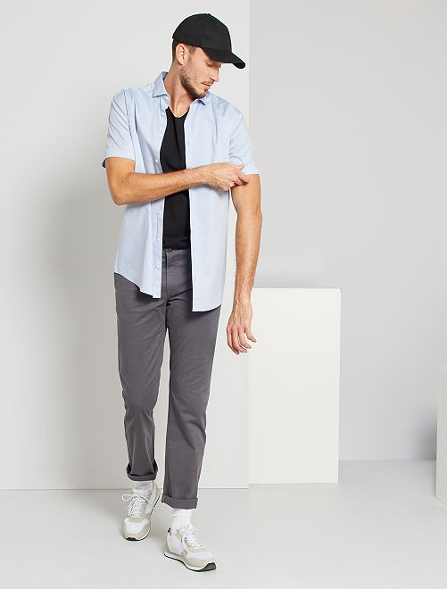 Camisa de algodón oxford +1,90 m                                         azul