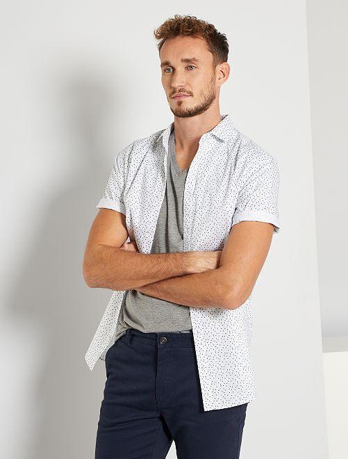 Camisa de algodón oxford +1,90 m                                         BLANCO