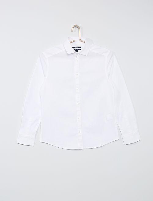 Camisa de algodón Oxford                             blanco