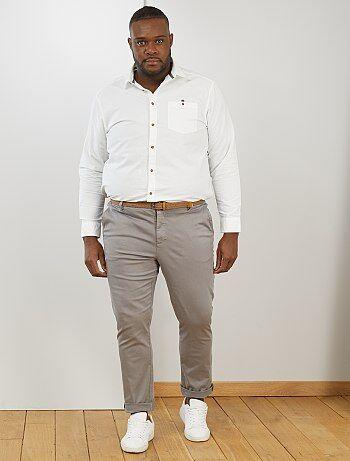 Camisas De Vestir Tallas Grandes Hombre Blanco Kiabi