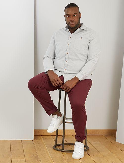 Camisa de algodón Oxford                                         GRIS
