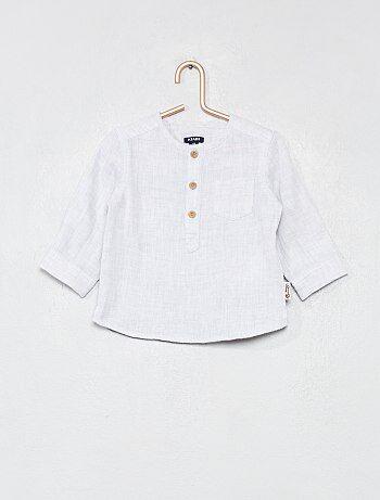 Camisa de algodón puro efecto envolvente - Kiabi c0b4a9b63aa3