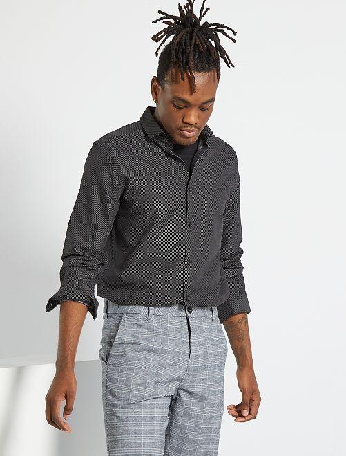 Camisa de algodón puro                                         NEGRO