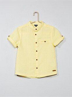 Camisas - Camisa de algodón y lino - Kiabi