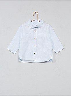 Niño 0-36 meses - Camisa de algodón y lino + pajarita - Kiabi