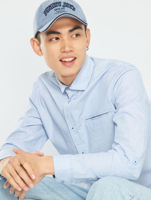 Camisa de chambray                             azul
