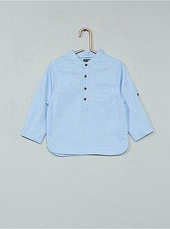 Niño 0-36 meses - Camisa de chambray con cuello mao - Kiabi