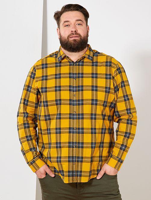 Camisa de cuadros                                         AMARILLO