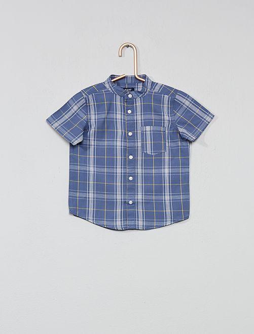 Camisa de cuadros                                                     AZUL Bebé niño