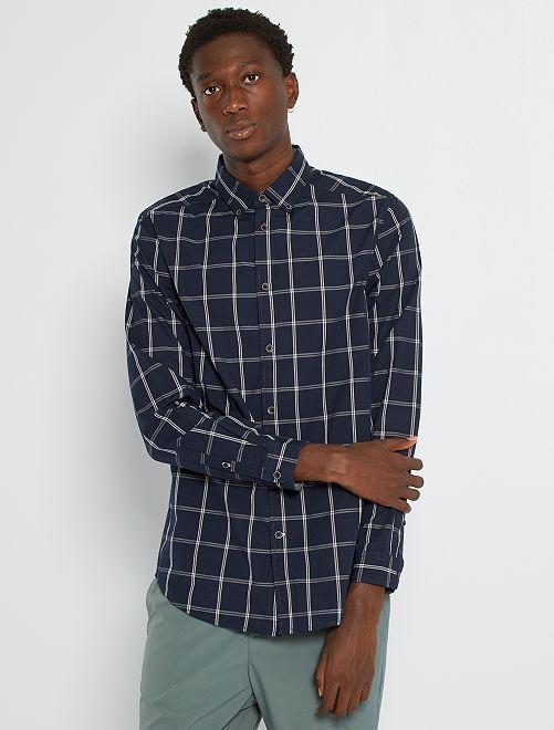 Camisa de cuadros                             AZUL
