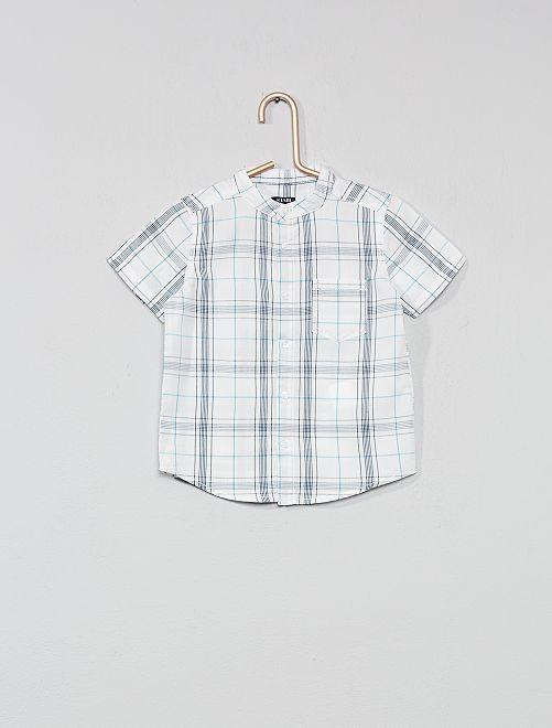 Camisa de cuadros                                                     BLANCO Bebé niño