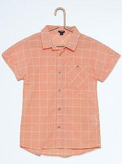 Niña 3-12 años Camisa de cuadros