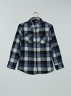 Camisas - Camisa de cuadros de franela - Kiabi