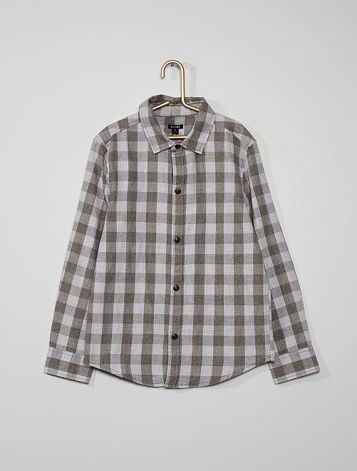 Camisa de cuadros                                                                                                     GRIS