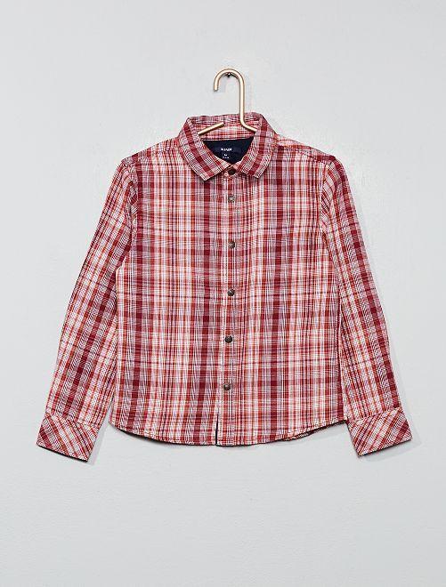 Camisa de cuadros                                                                 ROJO