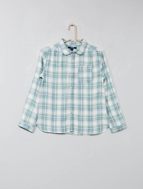 Camisa de cuadros                                                                                         VERDE Chica