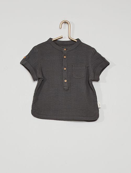 Camisa de fieltro eco-concepción                             GRIS