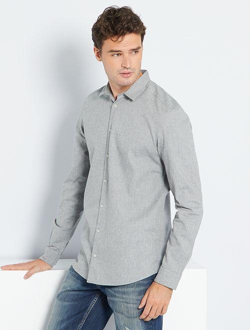 Camisa de franela +1,90 m                                         GRIS
