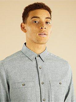 Camisa de franela con rayas